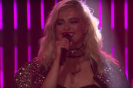 "Bebe Rexha Dazzles With ""No Broken Hearts"" Performance On The 'Late Late Show': Watch"