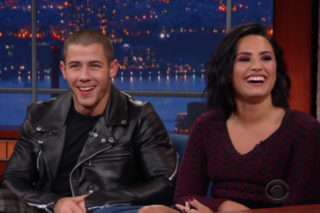 Watch Nick Jonas & Demi Lovato Talk About Why They're Always Wet, Perform On 'Colbert'