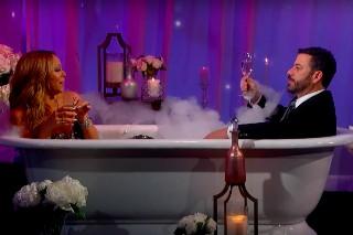 Mariah Carey Takes A Bath With Jimmy Kimmel, Talks Wedding Plans: Watch