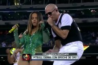 "Pitbull & Becky G Perform ""Superstar"" At Copa América"