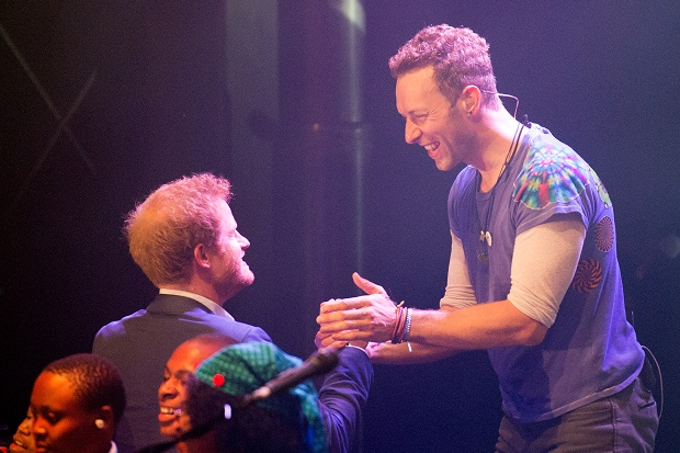 Prince Harry Chris Martin Coldplay
