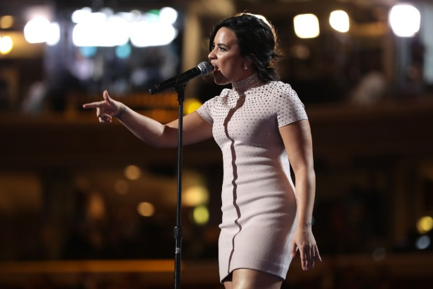 Demi Lovato Supports Hillary Clinton At The DNC