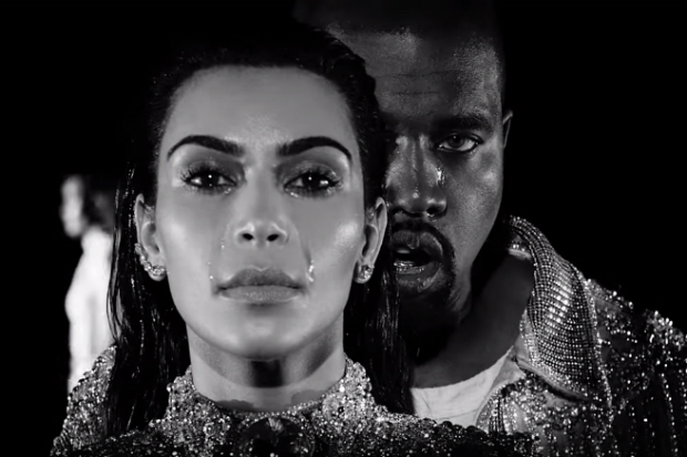 kanye west kim kardashian wolves video