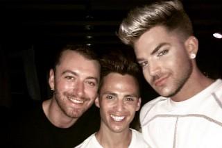 Rare Sam Smith Sighting: Adam Lambert Hangs With The UK Singer In Mykonos
