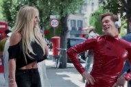 "Things Nobody Asked For: Kevin Bacon Wearing Britney Spears' Red ""Oops!…I Did It Again"" Catsuit"