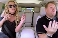 "Britney Spears Lip Syncs, James Corden Sings ""Toxic"" In Carpool Karaoke Preview: Watch"