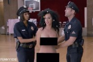 Watch Katy Perry Get Naked, Attempt To Vote With Her Boobs Out In Funny Or Die Video