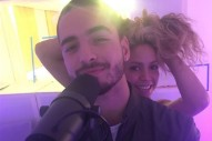 Shakira Hits The Studio With Maluma