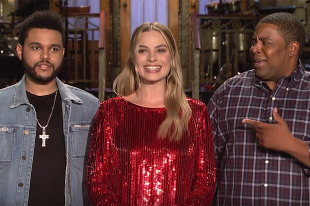 the-weeknd-snl-promo-margot-robbie
