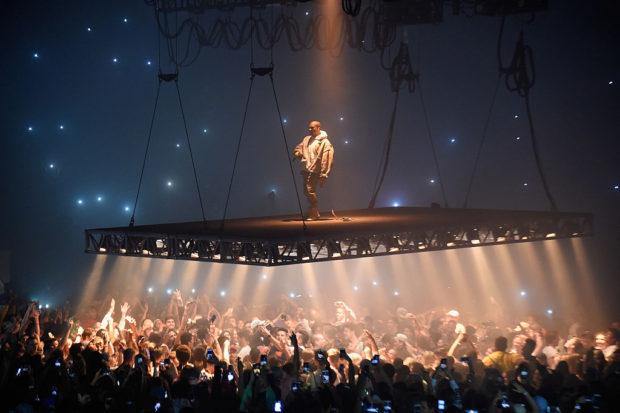 Kanye West nyc new york saint pablo tour floating stage