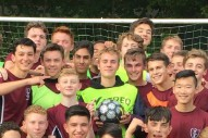 Watch Justin Bieber Play Soccer With London Students