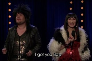 """Cher And James Corden Sing """"I Got You Bae"""": Watch"""