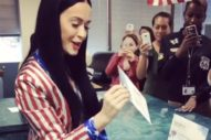 Katy Perry Posts Video Of Herself Voting Early For Hillary Clinton, On Her Birthday