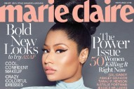 Nicki Minaj Talks Competing With Male Rappers In 'Marie Claire' Cover Story