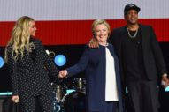 Beyoncé Joins Jay Z At Hillary Clinton Concert In Cleveland: Watch