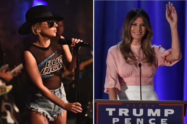 lady-gaga-melania-trump-donald-speech-2016-election
