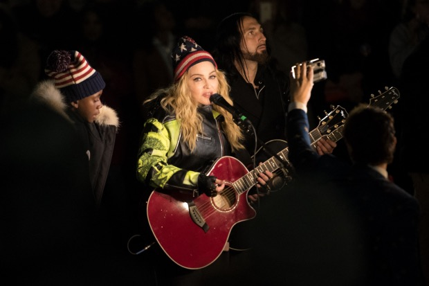 Madonna Holds A Rally In NYC To Support Hillary Clinton