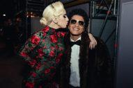 Bruno Mars Gets A Kiss From Lady Gaga At VS Fashion Show: 6 Pics