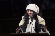 Watch Cher Speak At Anti-Trump We Stand United Rally In New York City