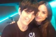 Demi Lovato Hits The Studio With Diane Warren