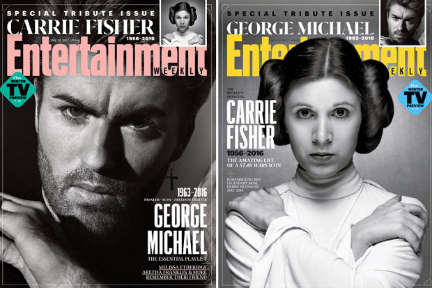 ew-george-michael-carrie-fisher-entertainment-weekly-death