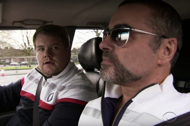 james-corden-george-michael-carpool-karaoke-comic-relief-red-nose-day-2011