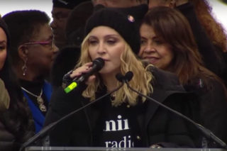 "Madonna Clarifies Women's March Speech: ""I Am Not A Violent Person"""