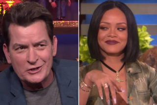 """Charlie Sheen Asked About Rihanna Feud On 'WWHL': """"Oh, That Bitch"""""""