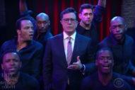 Watch Stephen Colbert Spoof Mariah Carey's NYE Performance Debacle On 'The Late Show'