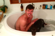And Here's A Pic Of Robin Thicke Taking A Bath With His Dog