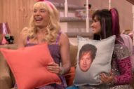 Demi Lovato Smooches An Ed Sheeran Pillow On 'The Tonight Show': Watch