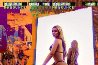 "Iggy Azalea Poses In Skimpy Flame Print Bikini For ""Mo Bounce"" Single Art"