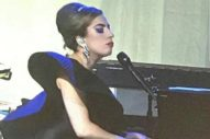 Lady Gaga Goes Brunette For Elton John's Birthday Party: Watch