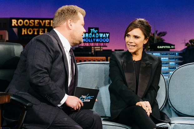 Victoria Beckham Late Late Show with James Corden