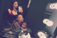 Kim Kardashian & North West Met Ariana Grande Backstage At 'Dangerous Woman' Tour