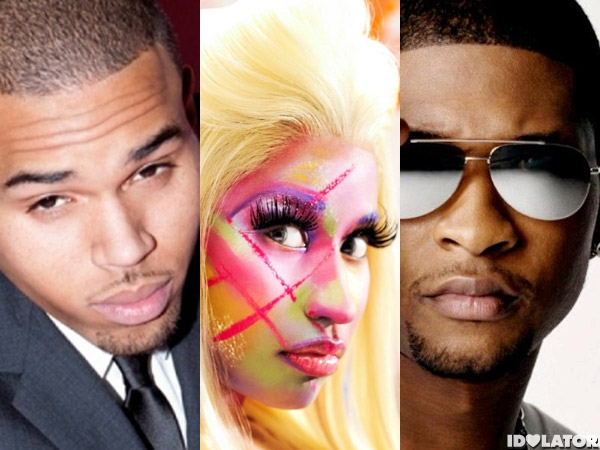 chris brown nicki minaj usher bet awards 2012