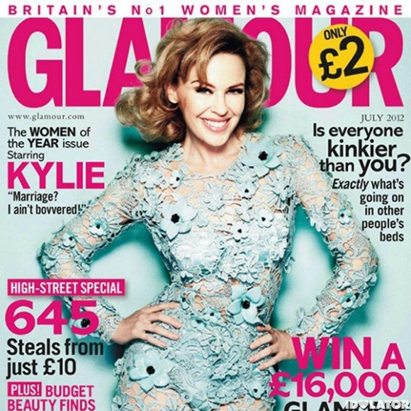 Kylie Minogue's Sexy 'Glamour UK' Spread